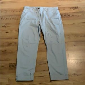 Gap Straight Leg Boyfriend Khakis - Baby Blue